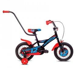 """Rower dziecięcy Capriolo Mustang 12"""" - model 2017 Kolor Czarno-niebieski"""