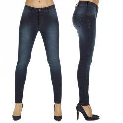 Legginsy damskie modelujące BAS BLEU Timea Kolor Ciemny niebieski, Rozmiar XL