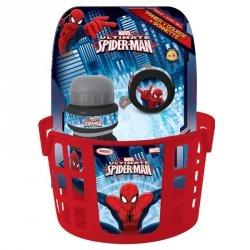 Zestaw rowerowy Spiderman (koszyk, dzwonek, bidon)