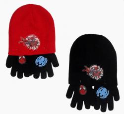 Komplet czapka jesienna / zimowa i rękawiczki Spiderman : Rozmiar: - 51 cm