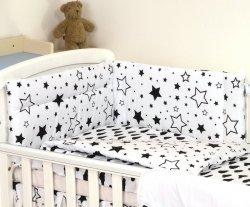 Zestaw pościeli niemowlęcej 5 elementów Chmurki-Gwiazdki