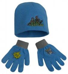 Komplet czapka jesienna / zimowa i rękawiczki Wojownicze Żółwie Ninja : Rozmiar: - 51 cm