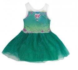 Sukienka tiulowa Frozen – Kraina Lodu, zielona : Rozmiar: - 116