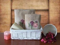 Ręcznik Bawełniany Romance Beż 50x90+70x140 Kpl.