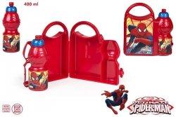 Zestaw śniadaniowy: pojemnik + bidon Spiderman