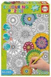 Puzzle do kolorowania - Duże, Piękne Kwiaty 300 el.