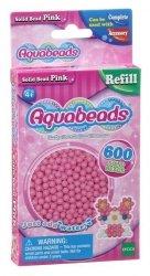Aquabeads Różowe lite koraliki