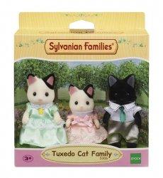 EPOCH  Sylvanian Families Rodzina kotków z czarnym uszkiem (Tata, Mama, Dziecko)