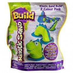 Spin Master Kinetic Sand Build - piasek konstrukcyjny 2 kolory zielony-niebieski 454g