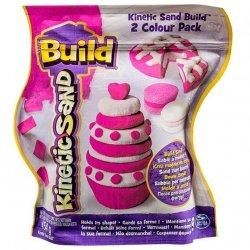 Spin Master Kinetic Sand Build - piasek konstrukcyjny 2 kolory różowy-biały 454g