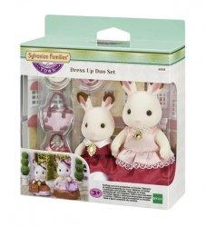 EPOCH  Sylvanian Families Town Series Zestaw dwóch elegancko ubranych królików