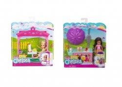 Mattel Barbie Chelsea + Mały zestaw Ast.