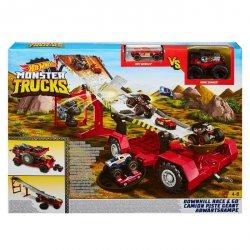 Hot Wheels Monster Trucks Meganaczepa z rampą Zestaw kaskaderski 2 w 1