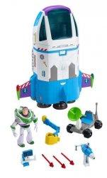 Mattel Toy Story 4 Statek kosmiczny Buzza Astrala Zestaw do zabawy + figurka i dodatkowy pojazd