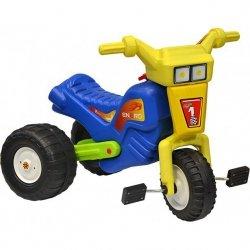 Rowerek trójkołowy enero racing żółto niebieski