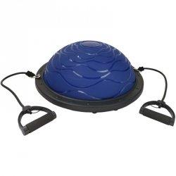 Bosu Trener Równowagi Blue 59,5Cm Z Linkami + Pompka Eb Fit