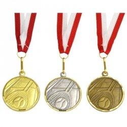 Medal Promo 40Mm Tenis Ziemny Srebrny 269008