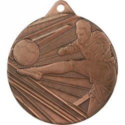 Medal 50mm stalowy brązowy piłka nożna ME001/B