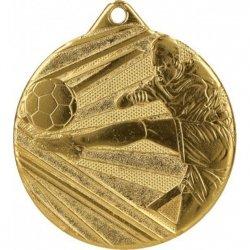 Medal 50mm stalowy złoty piłka nożna ME001/G