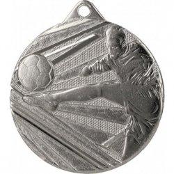 Medal 50mm stalowy srebrny piłka nożna ME001/S