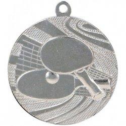 Medal 40mm srebrny tenis stołowy MMC1840/S