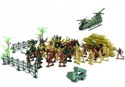 Duży Zestaw Militarny Wojskowy Żołnierze 71 Części