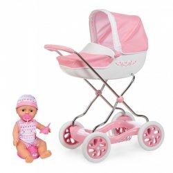 Głęboki wózek dla lalek Różowy Shara Smoby Inglesina + Lalka 30cm gratis!