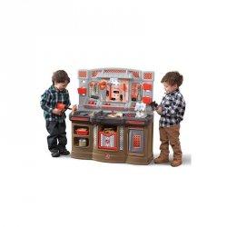 Duży Warsztat dla Dzieci Kącik majsterkowicza Światlo + 45 Akcesoria STEP2