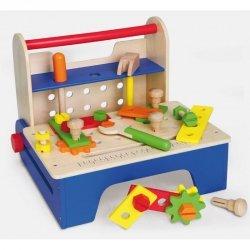 Drewniany Warsztat Majsterkowicza Stolarski z Narzędziami Viga Toys