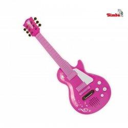 Simba Różowa Gitara Rockowa