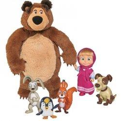 Simba - Masza i Niedźwiedź Zestaw ze Zwierzetami