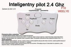 Pilot zdalnego sterowania w technologii 2.4 Ghz  WEELYE