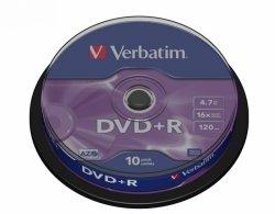 Verbatim DVD+R AZO Matt Silver 4.7 GB, 16 x, 10 Pack Spindle