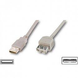 Logilink USB 2.0 extensio cable, USB A female, USB A male, 3 m, Grey