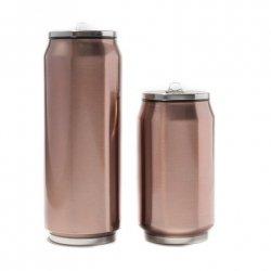 Yoko Design Isotherm tin can, Shiny Brown, Capacity 0.5 L, Diameter 6.9 cm, 500 ml