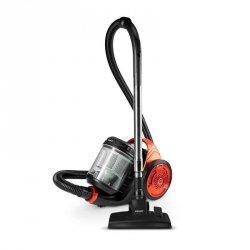Polti Cyclonic vacuum cleaner Forzaspira C130_Plus Bagless, Balck/ orange, 700 W, A, C, D, 76 dB, HEPA filtration system,