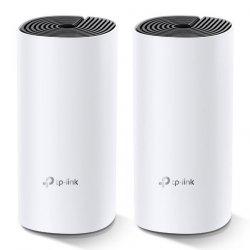 TP-LINK Whole Home Mesh WiFi System Deco M4 (2-Pack) 802.11ac, 300+867 Mbit/s, 10/100/1000 Mbit/s, Ethernet LAN (RJ-45) ports 2,
