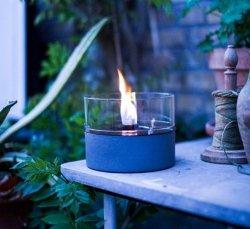 Tenderflame Table burner Café MgO Diameter 18 cm, 13.6 cm, 300 ml, 4.5 hours, Grey