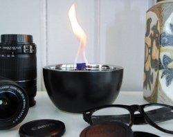 Tenderflame Table burner Rose 3W Porcelain Diameter 14 cm, 7.5 cm, 300 ml, 4-5 hours, Black