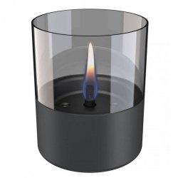 Tenderflame Table burner Lilly 1W Glass Diameter 10 cm, 12 cm, 200 ml, 7 hours, Dark grey
