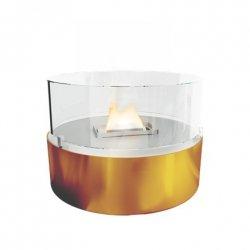 Tenderflame Table burner Cafe FlatWick metal Diameter 13 cm, 18 cm, 300 ml, 5 hours, Copper