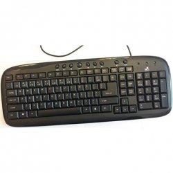 Super power Keyboard KM-1008 black, USB, EN/LT layout, waterproof, with 9 Multimedia Keys, and silicon pads Super power Multimed