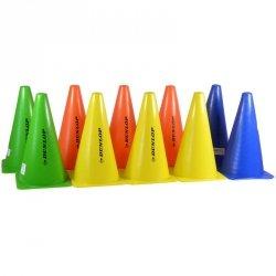 Zestaw pachołków treningowych wys.23,5cm 10szt Dunlop