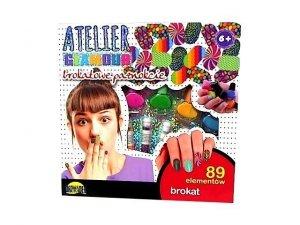 Dromader Atelier Glamour Brokatowe paznokcie