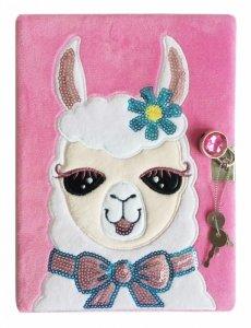 Stnux Pamiętnik pluszowy Lama A6, 60 kartek