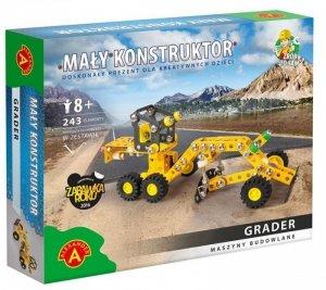Zestaw konstrukcyjny Mały Konstruktor Maszyny budowlane - Grader
