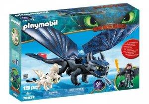 Playmobil Figurki Jak wytresować smoka - Szczerbatek i Czkawka z małym smokiem