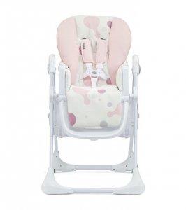 Krzesełko do karmienia + tacka Yummy różowe
