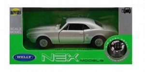 Welly Model kolekcjonerski 1967 Pontiac Firebird, srebrny