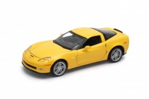 Welly Model kolekcjonerski 2007 Chevrolet Corvette Z06, żółty